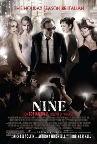 nine 2009,nine rob marshall,sophia loren,daniel day-lewis,marion cotillard,nicole kidman,penelope cruz,judi dench,federico fellini,fellini 8 ½